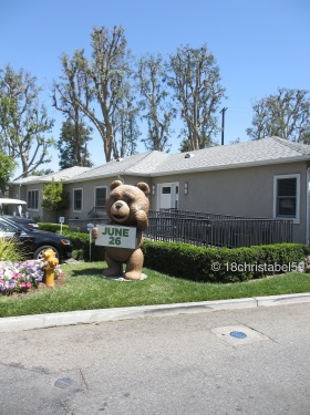 Ted in front of a Production Company