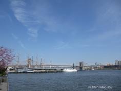 Blick auf Brooklyn Bridge