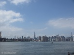Blick auf Skyline vom East River Park