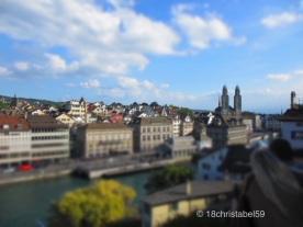 Blick vom Lindenhof zum Großmünster