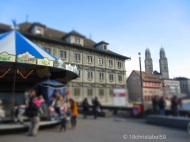 Rathausbrücke mit Blick auf den Großmünster