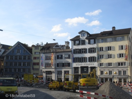 Münsterhof als Baustelle