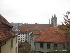 Blick von der Talstation Mühlegg über St. Gallen