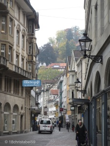 Gasse in St. Gallen