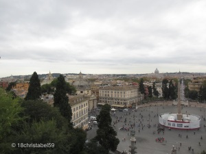 Aussicht von der Villa Borghese