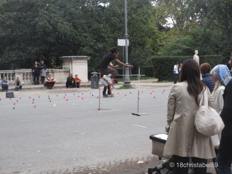 Skater in der Villa Borghese