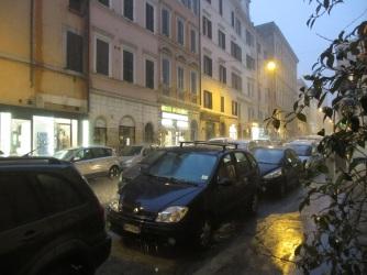 Regen in Rom
