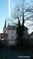 schiefer Kirchturm in Rottweil