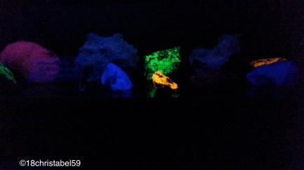 leuchtende Mineralien im Schwarzwaldmuseum Triberg