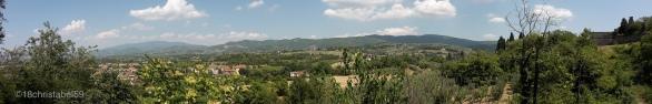 Ausblick in die toskanische Pampa in Arezzo